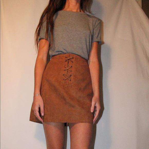 BCBGMaxAzria Dresses & Skirts - BCBG tan suede skirt